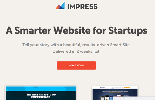 startup interface impress layout design