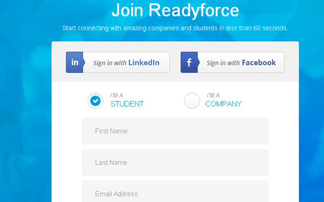 readyforce join register form ui inspiring