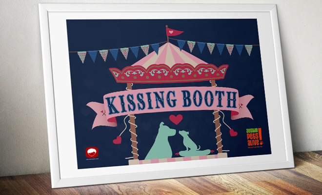 kissing booth banner poster print work