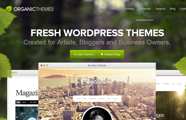 wordpress organic themes green website layout design