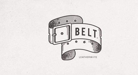 white shades belt logo design inspiration