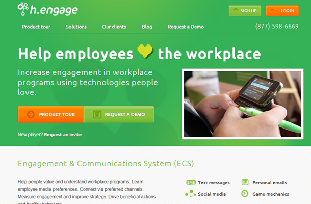social workplace performance tracking startup website