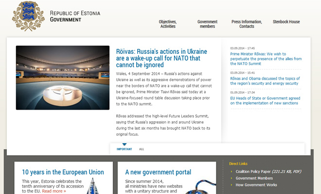 government of estonia republic website