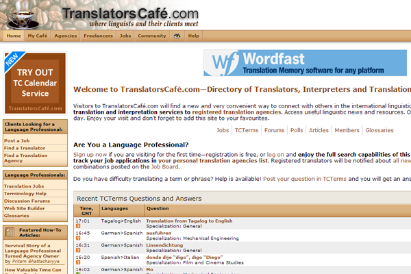 translatorscafe website design jobs translating freelance
