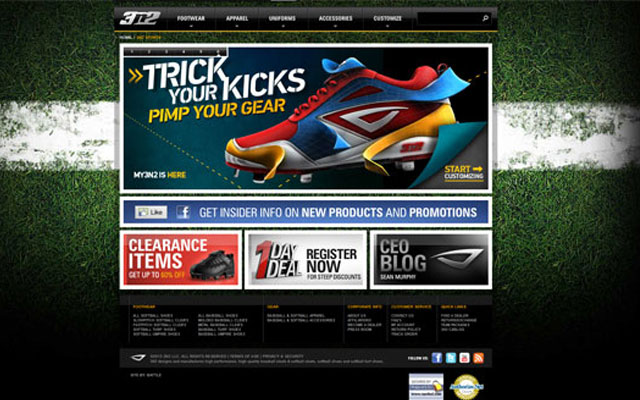 Examples Of Cool Sports Websites - Cool car websites