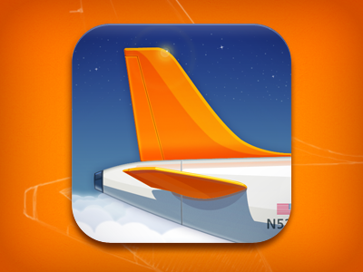 Airplane app icon design