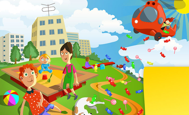 kids vector artwork design background