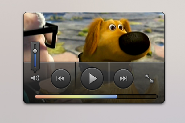 mini video player ui psd freebie
