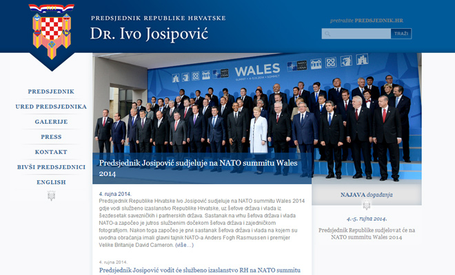president of croatia website