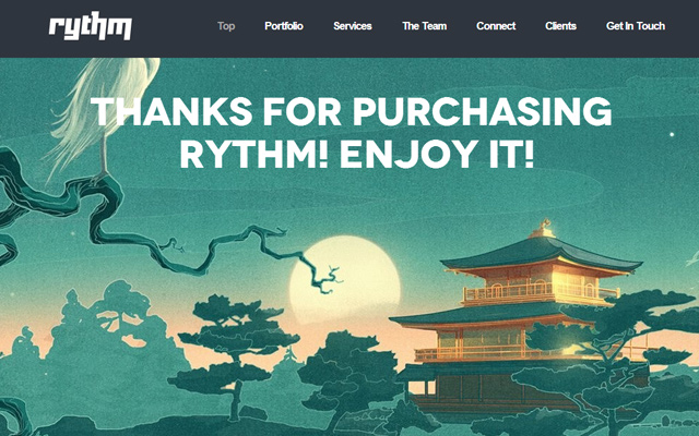 rythm one page responsive html5 website template