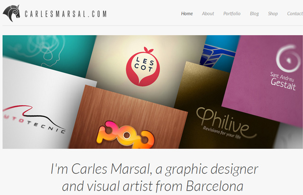 carles marsal website portfolio clean white content