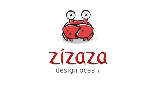 red crab logo bright inspiring design