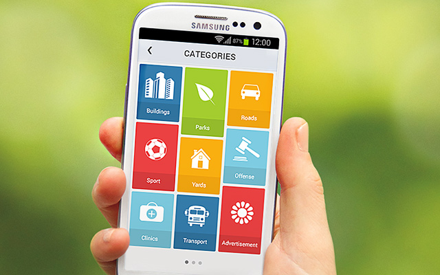 categories android app gallery ui flat design