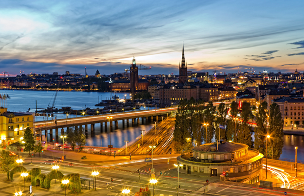 stockholm sweden night lights desktop wallpaper