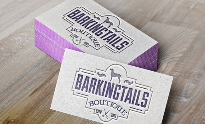 barking tails boutique business cards print work