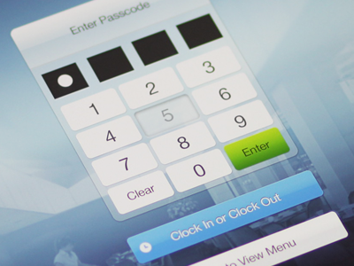 Mobile iPad iOS interface passcode screen