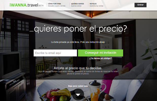 iwanna travel website landing homepage webdesign