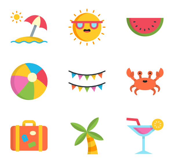 summer website themes icons