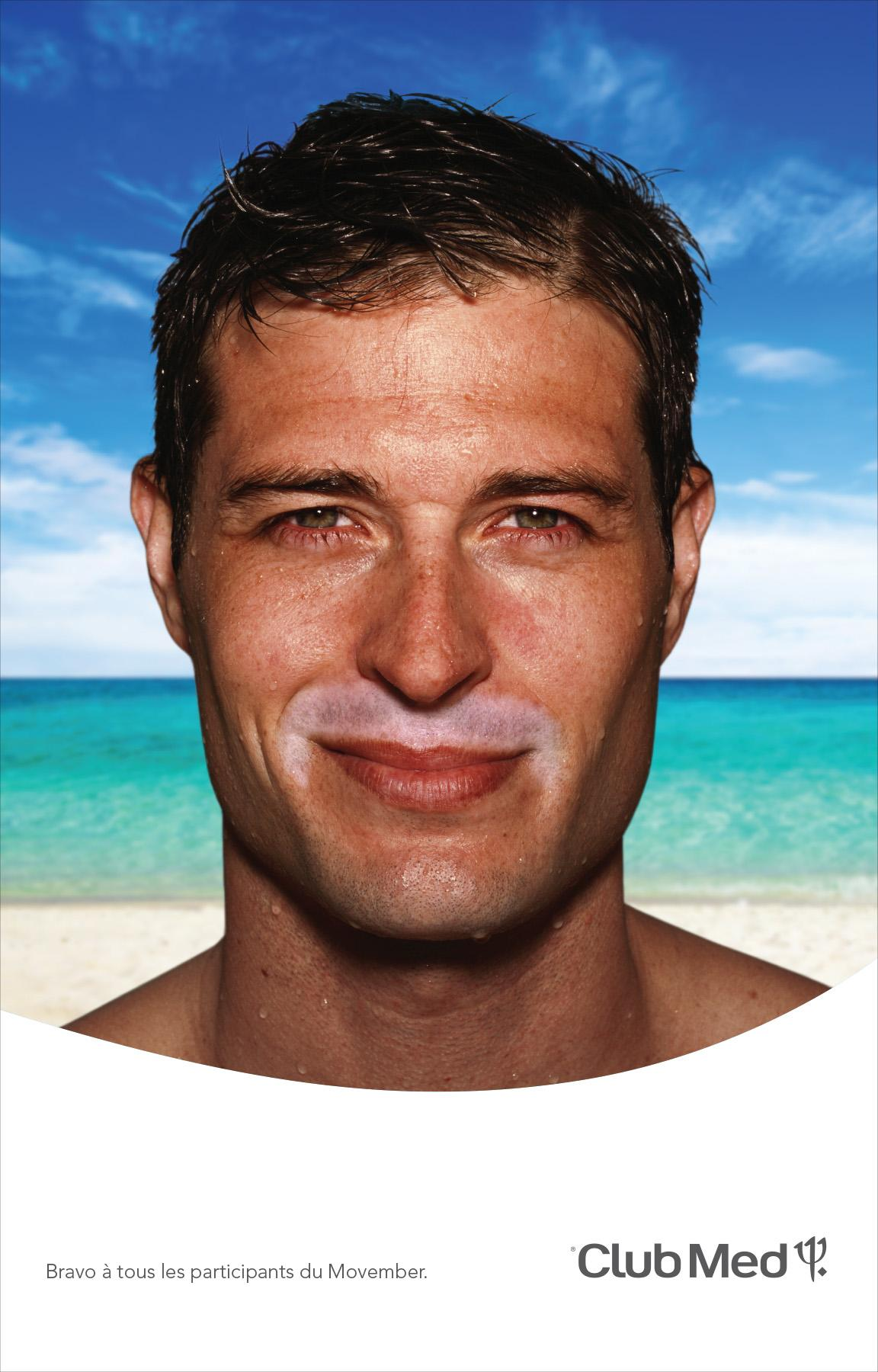 Club Med's Movember Poster