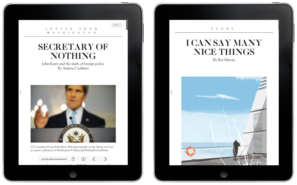 Editorial design for different devices