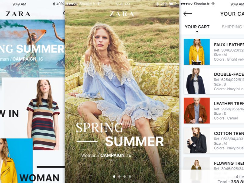Zara iOS App Design