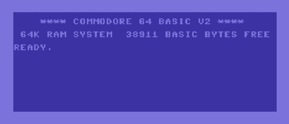 Commodore 64 boot screen