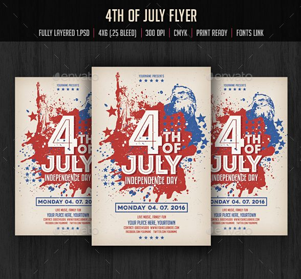 Independence Day Flyer And Ad Design Templates
