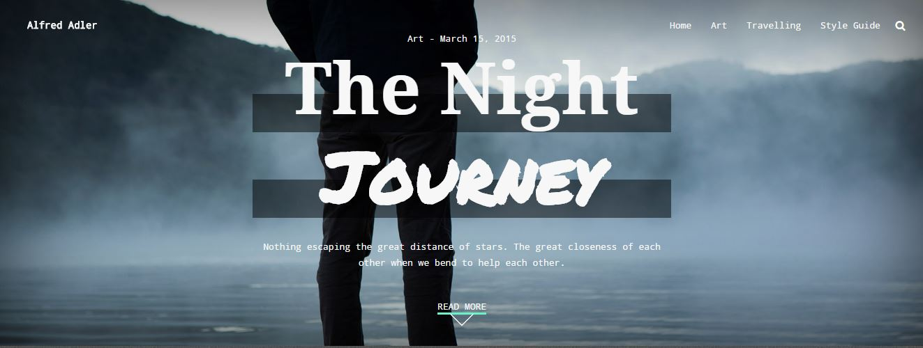 Adler WordPress theme for Free