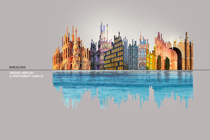Major Cities and Music They Inspire: Illustrated as Sound Waves