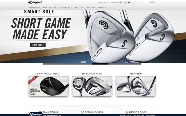 Cleveland-Golf-Company-Website