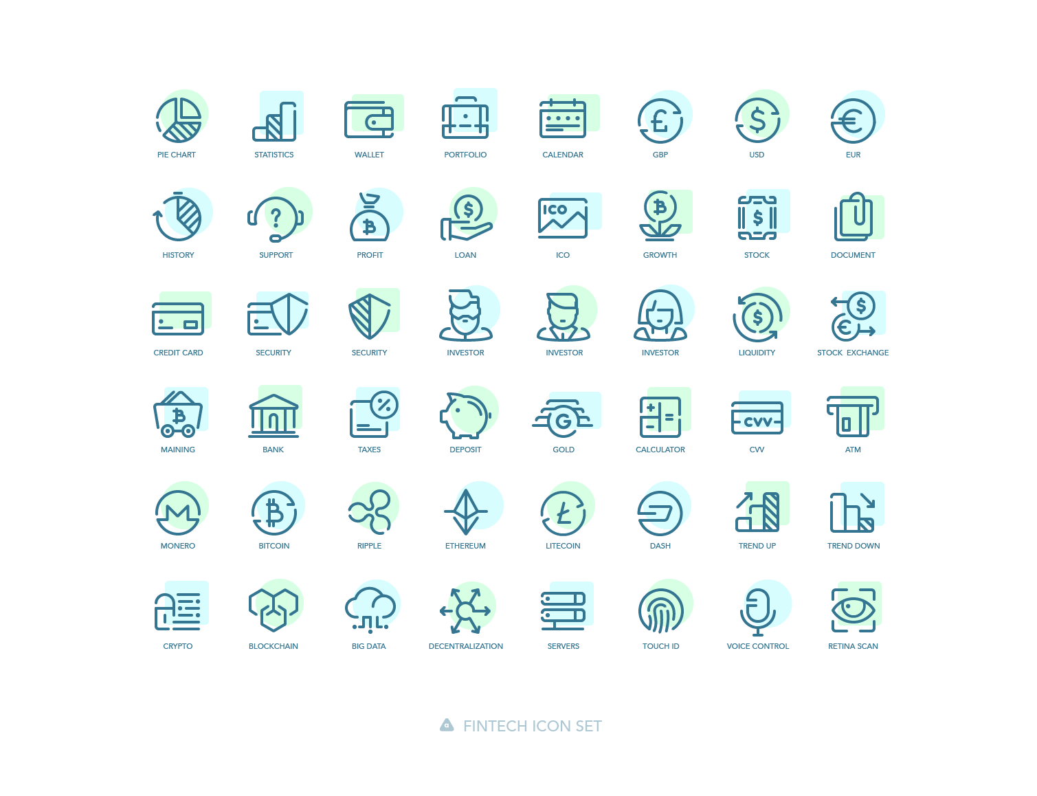 Free Downloads: Fintech and World Cities Icon Sets From Agente Studio