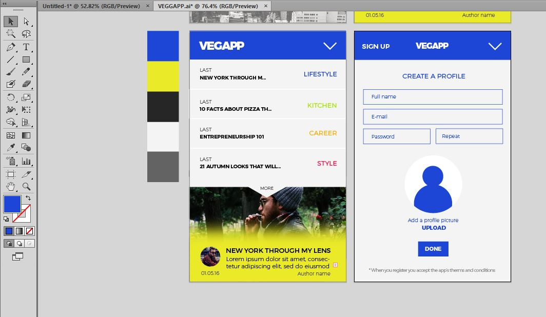 Sign Up App template