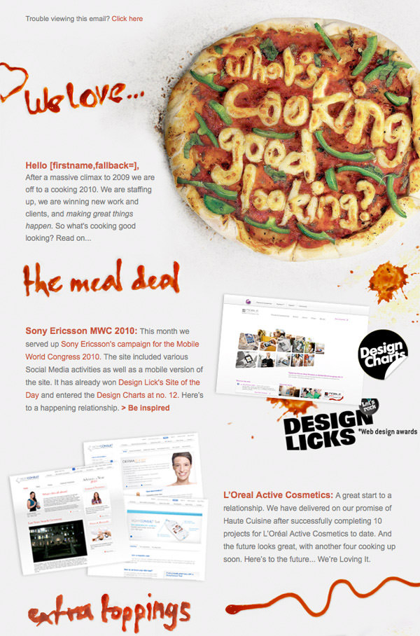 Menu Newsletter