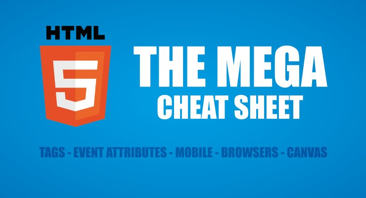 html5 cheat sheet infographic