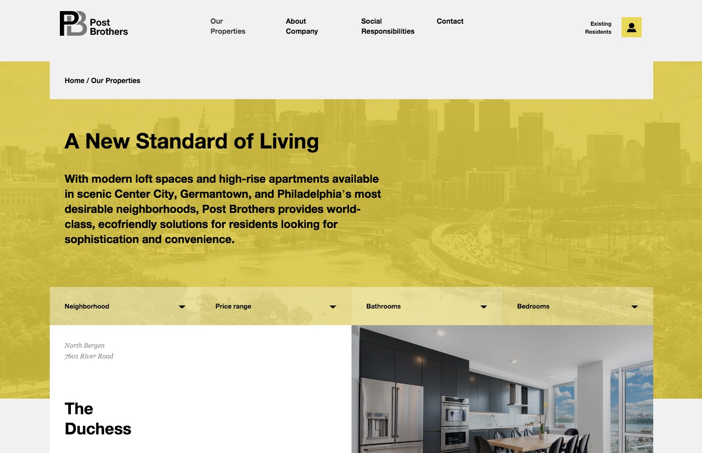 As For The Minimalist Look And Feel To The Site, The Gray, White And Yellow  Colors Are A Perfect Combination To Make The Actual House And Rental  Property ...