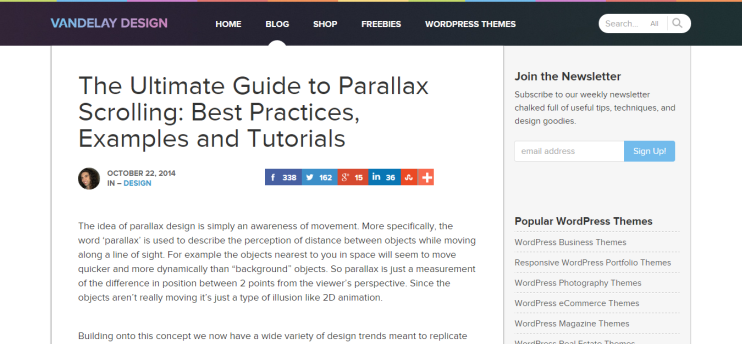 Parallax Scrolling  the ultimate guide