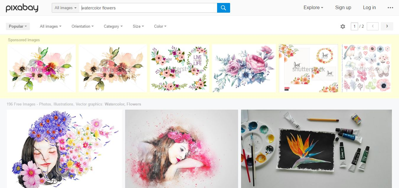 Free watercolor flower PNG files