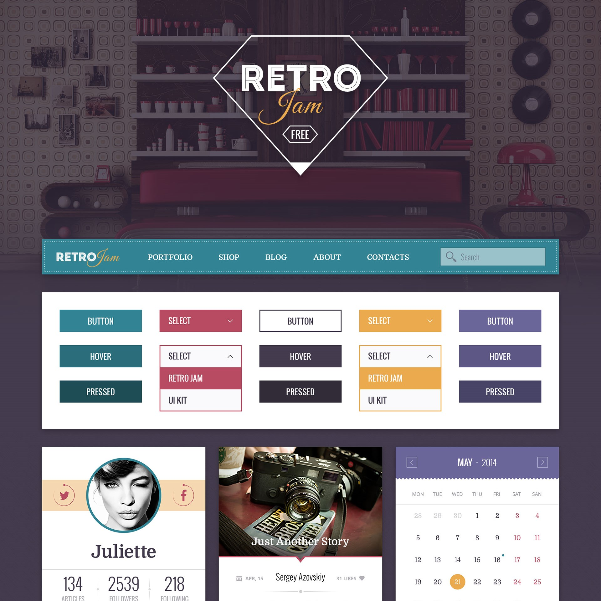 top free ui kits 2016