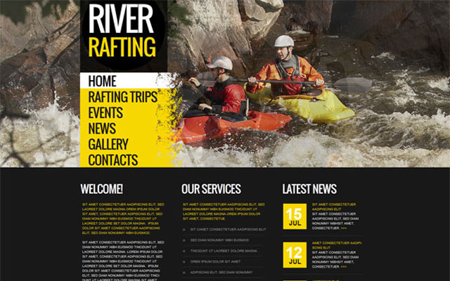 River-Rafting-Club-Website