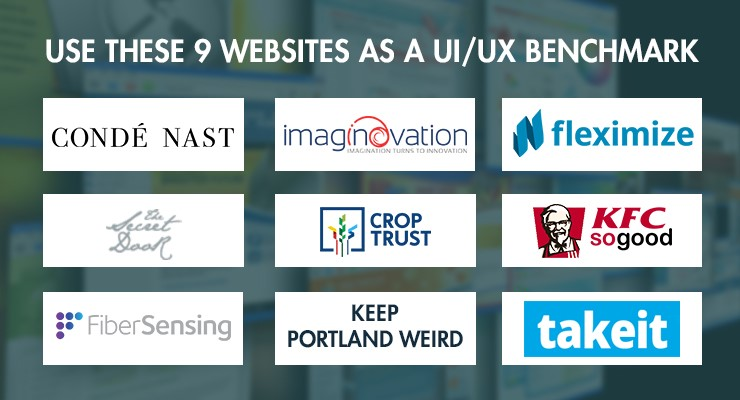 Use these 9 websites as a UI/UX Benchmark