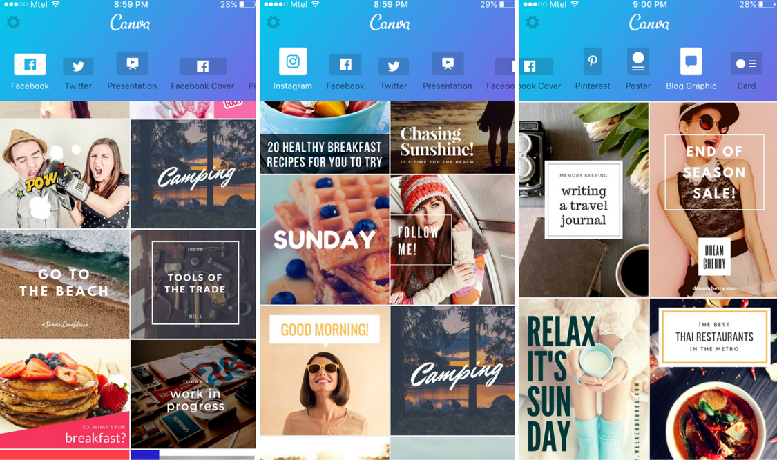 Design Layouts on Canva