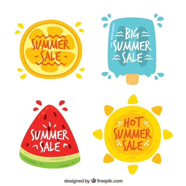 summer sale sticker icons