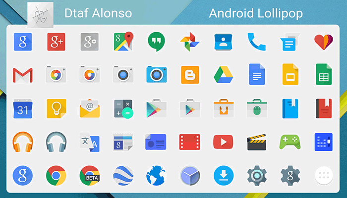 best free icons android lolipop