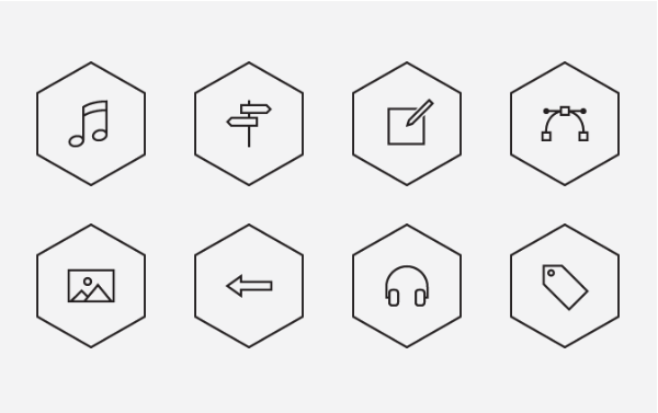 best free icons polygonal icon set