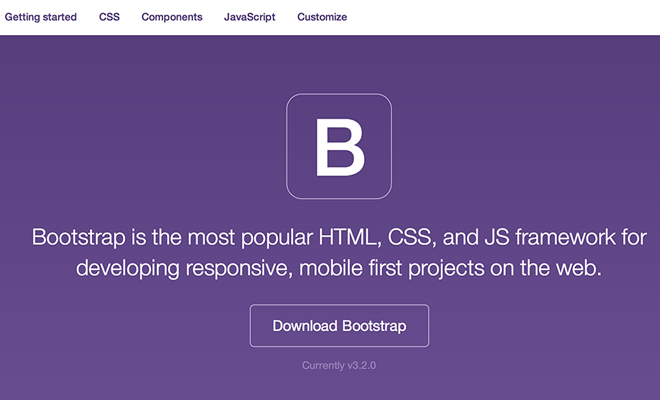 bootstrap v3 homepage redesign