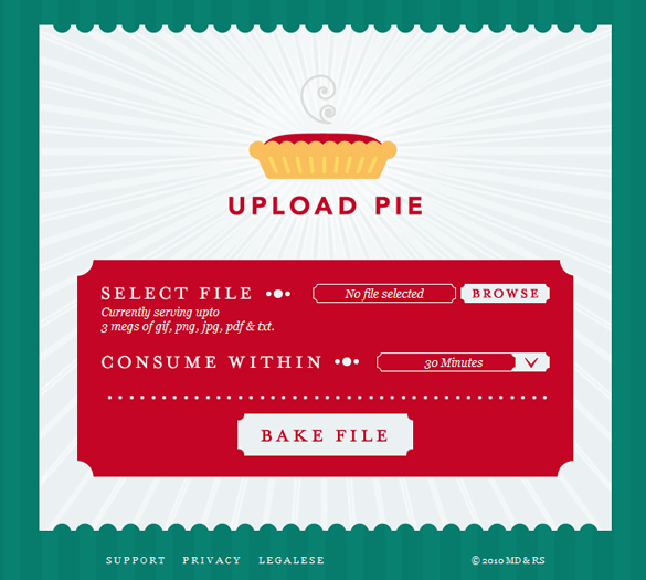 Upload Pie Website
