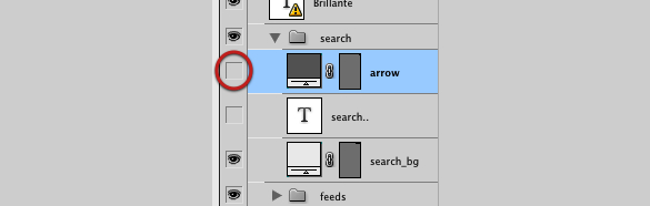 Photoshop - submit button/arrow layer disabled