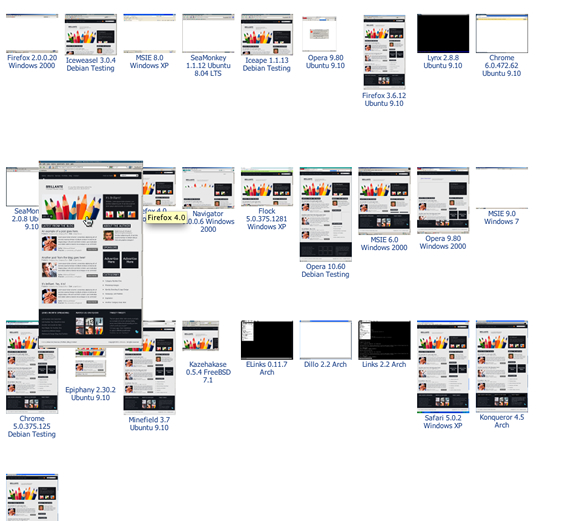 BrowserShots - screenshots thumbnails