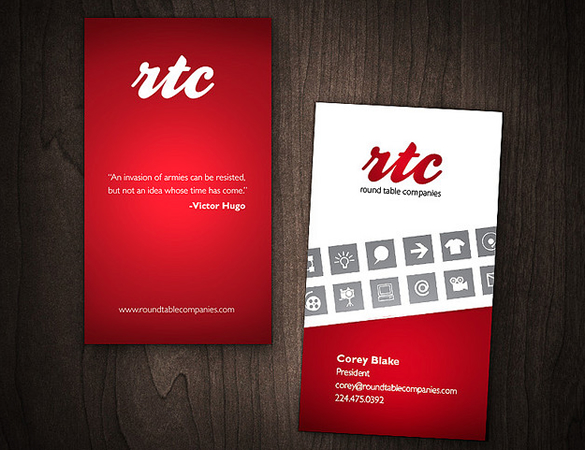 Rtc business card design slim image a recent logo and business card design for rtc reheart Images