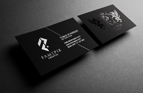 Black Business Cards Famepix